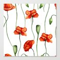 Poppies pattern Canvas Print