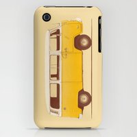 iPhone 3Gs & iPhone 3G Cases featuring Yellow Van by Speakerine / Florent Bodart