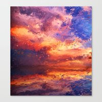 Sunset Abstraction Canvas Print