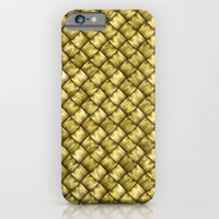 iPhone & iPod Case featuring Patchwork Gold by Alice Gosling