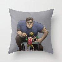 The Champion Throw Pillow