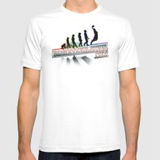 Staz Evolution White Mens Fitted Tee SMALL