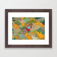 Juicy Plunge Framed Art Print