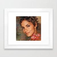 Halle Berry  (Portrait neglected) Framed Art Print