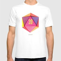 Rolling D20's Like A Big Shot  Mens Fitted Tee White SMALL