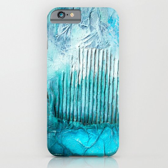 ABSTRACT AQUA COLOURS iPhone & iPod Case