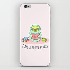 Reading Sloth iPhone & iPod Skin
