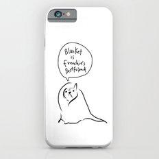 Blanket is French bulldog's best friend iPhone 6 Slim Case