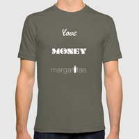 Love, Money, Margaritas. | Typography Mens Fitted Tee Lieutenant SMALL