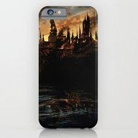 harry potter iPhone & iPod Cases featuring Harry Potter - Hogwart's Burning by Elaera Starsley