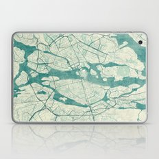 Stockholm Map Blue Vinta… Laptop & iPad Skin