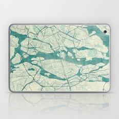 Stockholm Map Blue Vintage Laptop & iPad Skin