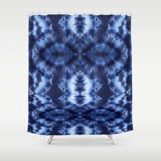 Topanga Tie-Dye Blue Shower Curtain