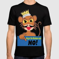 Monkey king says No! Black SMALL Mens Fitted Tee