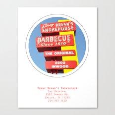 Sonny Bryan's Smokehouse Poster Canvas Print
