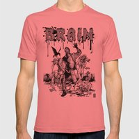 Brain Mens Fitted Tee Pomegranate SMALL