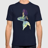 Mermaid Mens Fitted Tee Navy SMALL