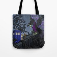 Tote Bag featuring And Now You Will Deal Wi… by Karen Hallion Illust…