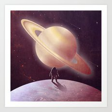 A View From Enceladus Art Print