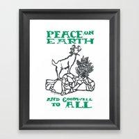 Peace on earth 2014 II Framed Art Print