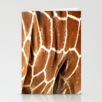Giraffe Skin Close-up Stationery Cards