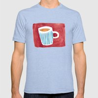 Coffee Mens Fitted Tee Tri-Blue SMALL