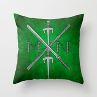 Weapons Down - TMNT Throw Pillow