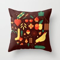 Throw Pillow featuring Countrylife #1 — Earth by Andrea Manzati
