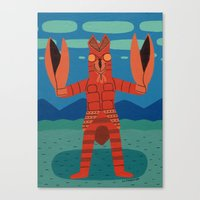 Alien Baltan Canvas Print