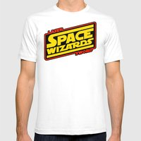 LASER SWORD SPACE WIZARD… Mens Fitted Tee White SMALL
