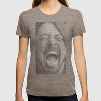 Dave Grohl. Everlong. Womens Fitted Tee Tri-Coffee SMALL