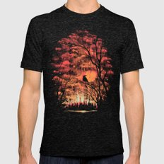 Burning In The Skies Mens Fitted Tee Tri-Black SMALL