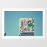 Tropical Seas Motel Art Print