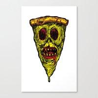 Pizza Face - Zombie Canvas Print