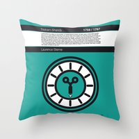 No019 MY Tristram Shandy Book Icon poster Throw Pillow