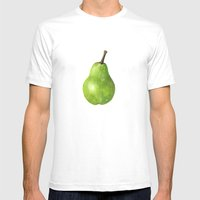 The Beauty of a Pear Mens Fitted Tee White SMALL