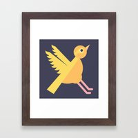 Letter X // Animal Alphabet // Xenops Framed Art Print
