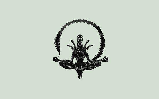 Meditation Alien Canvas Print