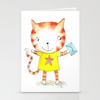 Ginger Kitten Watercolou… Stationery Cards