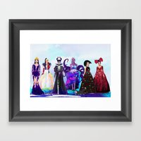 Wicked Queens. Framed Art Print