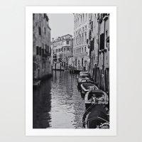 Venice black and white Art Print