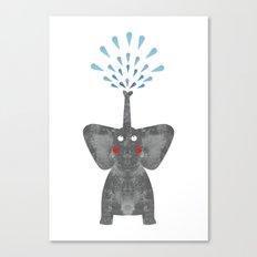 Excited Elephant  Canvas Print