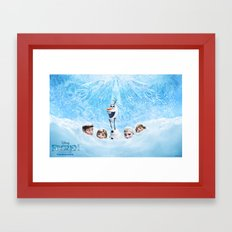 FROZEN OLAF  Framed Art Print