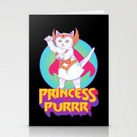 Princess Of Purrr Stationery Cards