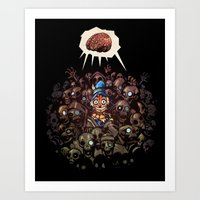 More BRAINS for OZ Art Print