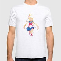 Sailor Moon Mens Fitted Tee Ash Grey SMALL
