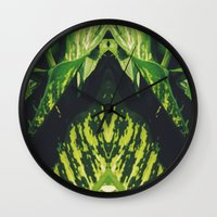 50 Shades Of Green (5) Wall Clock