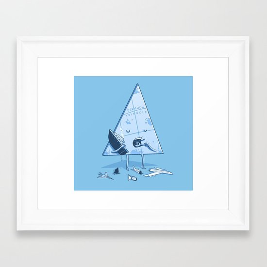 Bermuda triangle Framed Art Print