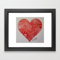 The Heart Is Complicated… Framed Art Print