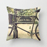 Vintage Bike Throw Pillow